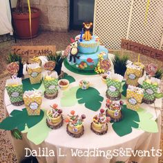Jungle Candy bar - primo compleanno tema La giungla - 1️⃣birthday #details #nonsolowedding