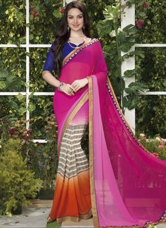 Wholesale Georgette Designer Sarees Collection - Buy Now @ http://www.suratwholesaleshop.com/1110-Fascinating-Brown-Printed-Casual-Wear-Saree?view=catalog  #Suratwholesaleshopsaree #Onlinesaree #Supplier #Bulksaree