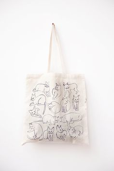 Picasso Cats Tote by leahgoren etsy