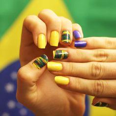 #Película para #unhas - Estampa #Brasileirinho