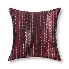 "Euphoria Contempo Decorative Throw Pillow Cushion Cover Pillowcase Shell Faux Silk Burgundy Striped Embroidery 18x18"" Euphoria http://www.amazon.com/dp/B00IW1PT14/ref=cm_sw_r_pi_dp_pC4xvb1NY4T6W"