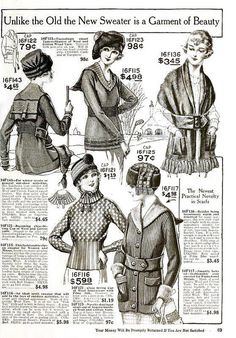 Cold weather sweaters (1920). #vintage #1920s #fashion