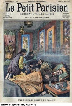 Une fumerie d'opium en France, 1907. mypharmacography:  The French colonization of Indochina was partly financed by its monopoly trade...