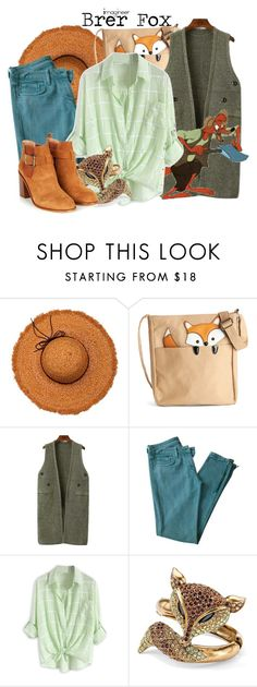 """Brer Fox (Songs of the South)"" by claucrasoda ❤ liked on Polyvore featuring La Fiorentina, Chicnova Fashion, Sandro, Palm Beach Jewelry, contestentry and 2015wishlist"
