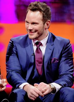 Chris Pratt, during the filming of the Graham Norton Show at The London Studios, south London, to be aired on BBC One on Friday evening. (Dec/2016)