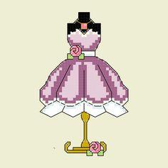 Dress Cross Stitch Pattern PDF by LastingAllure on Etsy, $5.00
