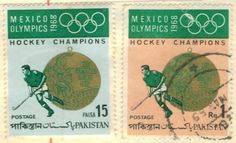 Mexico Olympics 1968 #pakistan postage stamp Hockey Champions
