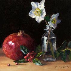 Painting Lessons, Art Lessons, Flower Vases, Flower Art, Pomegranate Art, Still Life Artists, Fruit Photography, Art Plastique, Painting Frames