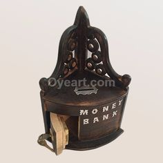 This Hand crafted and hand polished with beautiful #Carving treasure chest money box is made of wood. Use the coin slot on the #treasure chest to top up your #savings. Or open up the door and store your treasure of choice within! These wooden #Money Boxes are eye-catching, appealing gifts and make brilliant gifts for a child's bedroom or for fun-loving adults! High quality #traditional wooden presents to treasure!