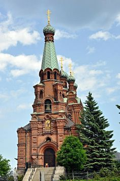 Igreja ortodoxa em Tampere, Finlândia. Fotografia: JohntheFinn no Flickr.