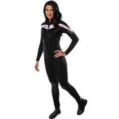 4694075821 Rocking the Henderson Thermoprene 3mm Women s Jumpsuit in Black Pink this  summer for diving.