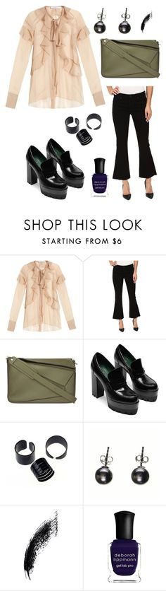 """""""8"""" by joshua-little on Polyvore featuring Givenchy, Hudson, Loewe, Black and Deborah Lippmann"""