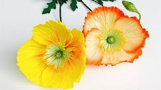 How To Make Marigold Paper Flower From Crepe Paper - Craft Tutorial - YouTube