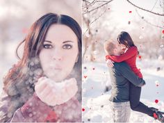 winter valentines day engagements on Utah Bride Blog from winsor photography