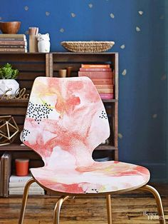 Beautiful things can happen when you combine water and paint with home decor. Bring bland accessories to life with these simple DIY projects featuring painterly patterns.