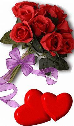 Beautiful Love Images, Good Morning Beautiful Flowers, Beautiful Flowers Wallpapers, Beautiful Rose Flowers, Coeur Gif, Love Rose Flower, Love You Gif, Good Night Greetings, Hearts And Roses