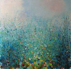 "Saatchi Online Artist: Sandy Dooley; Acrylic, 2013, Painting ""Rain and Buttercups (sold)"""