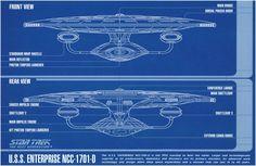 Framed Print - Star Trek Blueprint Uss Enterprise Ncc-1701-D (Picture Poster Art