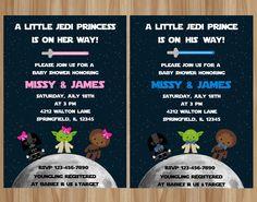 Star Wars Baby Shower Invitation DIY Printable Jedi Its a Boy