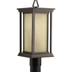Endicott Collection 1-Light Antique Bronze Post Lantern