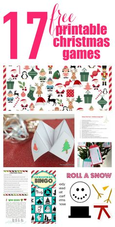 17 Free Printable Christmas Games for the whole family! Don't forget to have fun amid all the hustle and bustle this year. PDF of Roll-a-snowman in Documents Xmas Games, Printable Christmas Games, Christmas Bingo, Holiday Games, Christmas Party Games, Noel Christmas, Christmas Crafts For Kids, Christmas Activities, Christmas Traditions