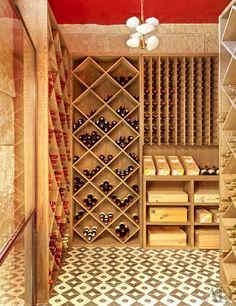 Sara Story's Sprawling Texas Retreat The wine cellar features white-oak storage units designed by Lake/Flato Architects.