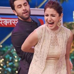 OMG ! Looks like Anushka Sharma in big trouble ! Team Ae Dil hai Mushkil having fun times on the sets of The Kapil Sharma Show during promotions of their upcoming movie.  @BOLLYWOODREPORT ❤❤❤! . . #instamoment
