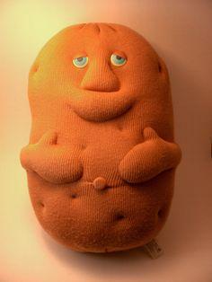 Couch Potato 80s toy blue eyes Coleco Plush by GlazyDaysandNights