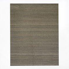Jute Chenille Herringbone Rug - Natural/Slate | west elm