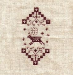 Reindeer cross stitch