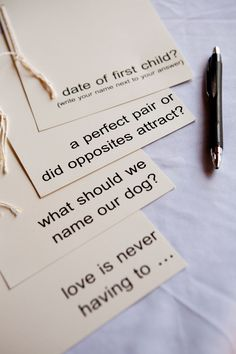 'guestbook' questionnaires. | We didn't want some boring sam… | Flickr - Photo Sharing!