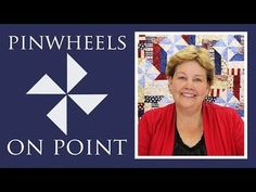 Pinwheels On Point with Fence Rail Quilt: Easy Quilting Tutorial with Jenny Doan of MSQC (Missouri Star Quilt Company - YouTube)