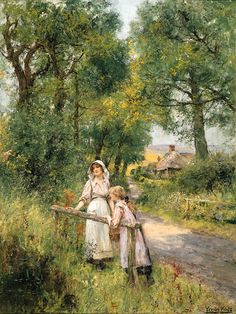 A rest on the way, Henry John Yeend King. English (1855 - 1924)