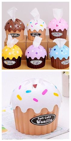 Yummmm cupcakes! Which icing would you choose?  Get it for $8.99 plus free shipping! Cupcake Tissue Boxes: