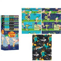Geschenkpapier Phineas & Ferb, je 200x70cm