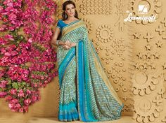 Buy this exclusive Blue & Olive Green Digital Foil printed Georgette Saree along with Satin Blue Color Pashmina Blouse with Jacquard Lace Border as well as Cut Work online from Laxmipati.comin USA, UK, Canada,India. Shop Now! 100% genuine products guaranteed. Limited Stock! #Catalogue #SANGEET Price - Rs. 1908.00 Visit for more designs@ www.laxmipati.com. #GaneshChaturthi #GaneshChaturthi2016 #Ganesh #monsoon #Shopping #Shoppingday #ShoppingOnline #fashionstyle #ReadyToWear #OccasionWear… Laxmipati Sarees, Georgette Sarees, Cut Work, Lace Border, Printed Sarees, Occasion Wear, Daily Wear, Bridal Collection, Olive Green