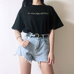 Love these casual teen fashion Mode Ulzzang, Korean Fashion Ulzzang, Korean Girl Fashion, Korean Fashion Trends, Summer Fashion Trends, Korea Fashion, Cute Fashion, Look Fashion, Korea Summer Fashion