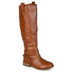 Journee Collection Walla Women's Knee-High Boots, Size: 7.5 M Xwc, Lt Brown
