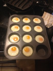 Breakfast, week of 11/3/13: 350 for 10-12 minutes - feel free to scramble them up. Use for your homemade breakfast sandwiches or with veggies