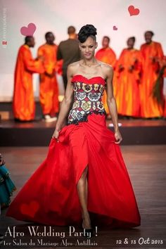 Afro Wedding Party à Paris - Défilé Kamisha African Inspired Fashion, African Dresses For Women, African Print Fashion, Africa Fashion, African Attire, African Wear, African Women, African Prints, African Wedding Dress
