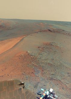 Mars 360 degree panorama [click through to view] taken by the Opportunity rover (not by Curiosity)