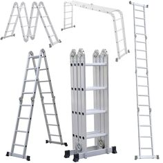 15ft Sturdy Multi Purpose Aluminum Extension Ladder Scaffolding Platform Step #UnbrandedGeneric