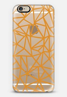 Abstraction Dense Orange Transparent by Project M | @casetify