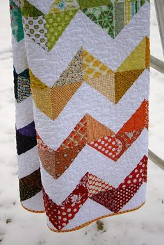 Zig Zag Quilt by A LIttle Bit Biased