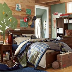 cool teen boy beds | This Patchwork Quilt from PB Teen will go with anything and can be ...