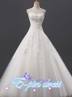 applique wedding dress / cathedral wedding dress by epindress