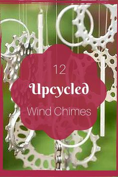 Wind chimes that put a little pep in your garden or patio. These upcycling projects are easy and cheap to make.