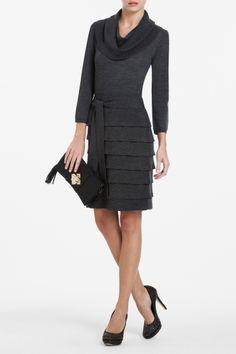 Mariam Ruffled Wool Sweater Dress