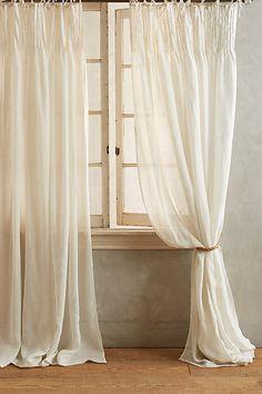 "Anthropologie: Pinch-Pleat Curtain in ""Soft White"""