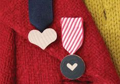 Make a badge of honor and love in this DIY tutorial.